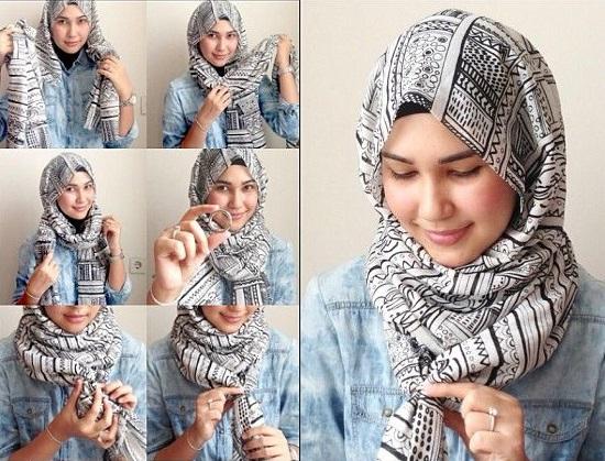لفات حجاب سهلة ـ لفات حجاب بالخطوات ـ لفات حجاب جديدة  ـ لفات طرح (2)