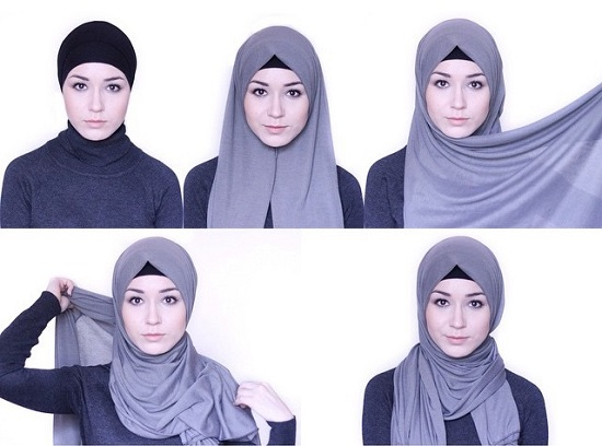 لفات حجاب سهلة ـ لفات حجاب بالخطوات ـ لفات حجاب جديدة  ـ لفات طرح (3)