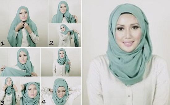 لفات حجاب سهلة ـ لفات حجاب بالخطوات ـ لفات حجاب جديدة  ـ لفات طرح (5)