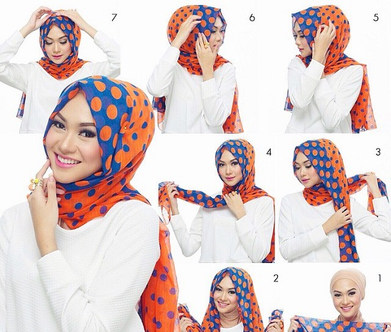 لفات حجاب سهلة ـ لفات حجاب بالخطوات ـ لفات حجاب جديدة  ـ لفات طرح (6)