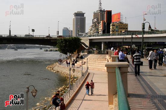تواصل أعمال تطوير كورنيش النيل  (2)