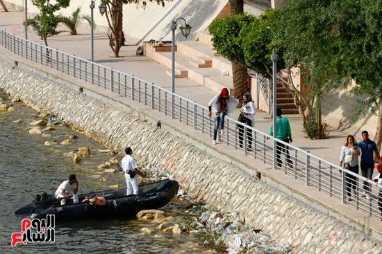 تواصل أعمال تطوير كورنيش النيل  (20)