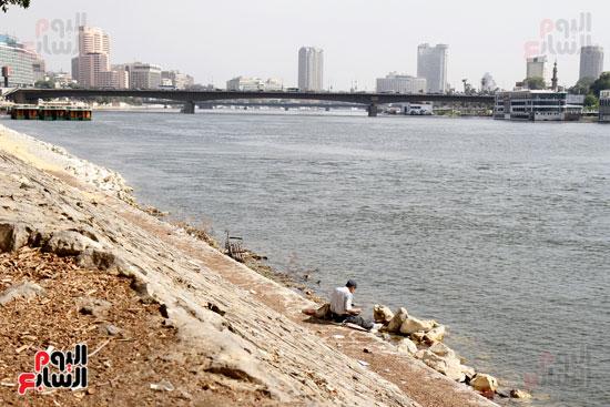 تواصل أعمال تطوير كورنيش النيل  (5)