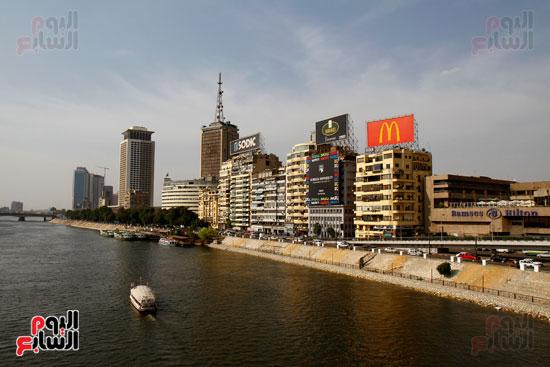 تواصل أعمال تطوير كورنيش النيل  (24)