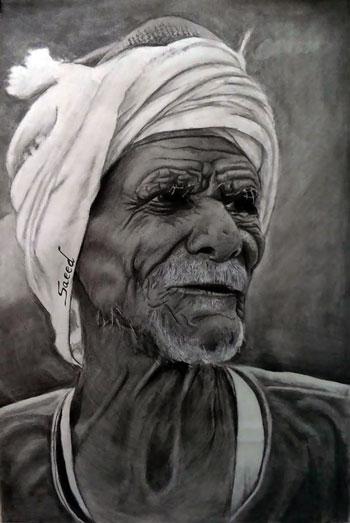 رسم الوجوه بالقلم الرصاص (3)
