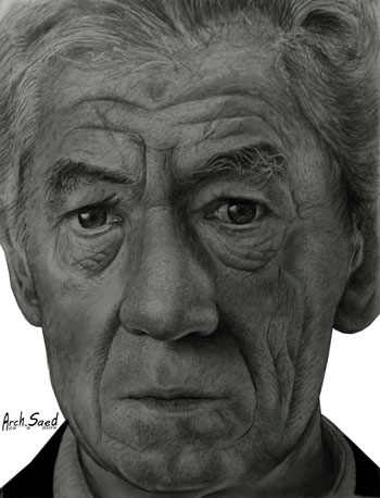 رسم الوجوه بالقلم الرصاص (5)