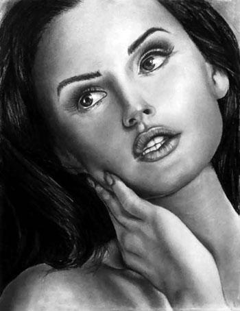 رسم الوجوه بالقلم الرصاص (6)