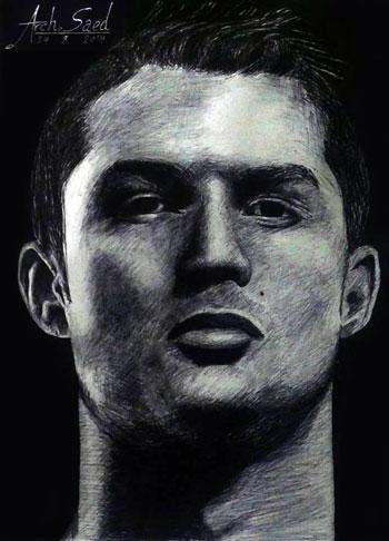 رسم الوجوه بالقلم الرصاص (9)