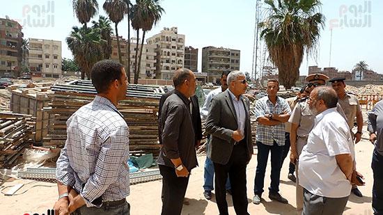 مدير أمن الغربية يتفقد مجمع كليات طنطا (1)