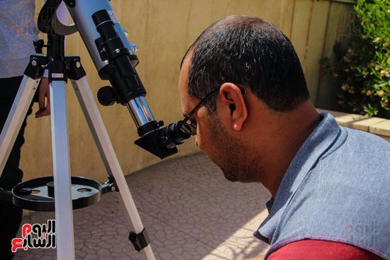 عبور كوكب عطارد أمام الشمس بسماء مصر فى ظاهرة لم تحدث منذ 10 سنوات المرصد الفلكى (10)
