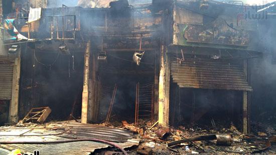 حريق الرويعي بالعتبة، الحماية المدنية، خسائر،  (1)