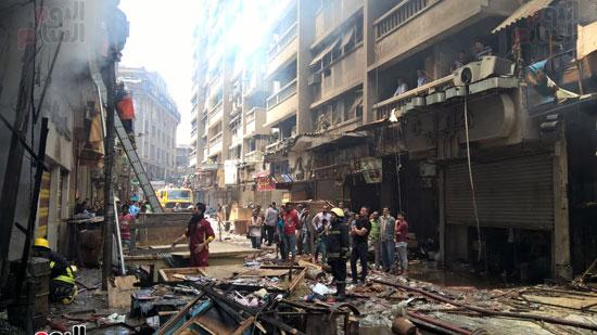 حريق الرويعي بالعتبة، الحماية المدنية، خسائر،  (2)