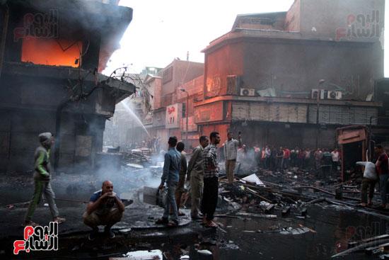 حريق الرويعي بالعتبة، الحماية المدنية، خسائر،  (6)