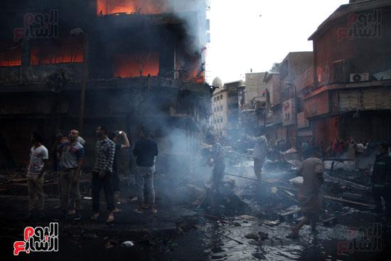 حريق الرويعي بالعتبة، الحماية المدنية، خسائر،  (7)