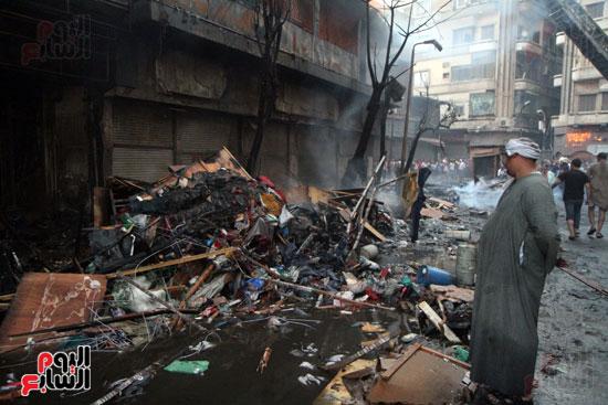 حريق الرويعي بالعتبة، الحماية المدنية، خسائر،  (8)