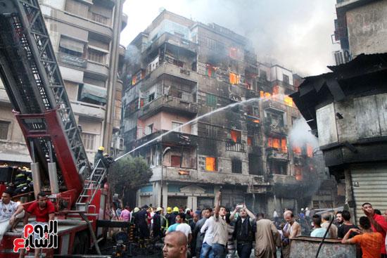 حريق الرويعي بالعتبة، الحماية المدنية، خسائر،  (9)