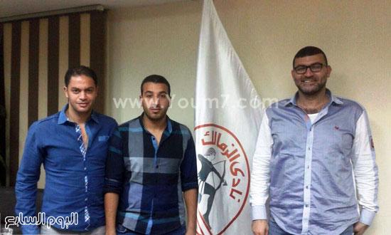 محمد جمال برفقة وكيله تامر النحاس -اليوم السابع -6 -2015