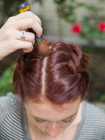 يمكنك استخدام بودرة الشعر لاخفاء الفراغات الواسعة فى حالة الشعر الخفيف -اليوم السابع -6 -2015