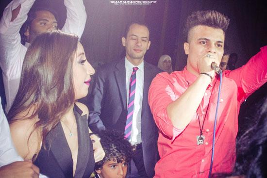 مطرب المهرجانات غاندى والمطربة الشعبية بوسى فى حفل زفاف الإستايلست ريهام عاصم -اليوم السابع -6 -2015