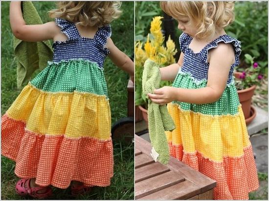 فستان بألوان قوس قزح -اليوم السابع -6 -2015