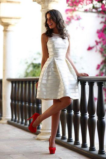 فستان أبيض قصير -اليوم السابع -6 -2015