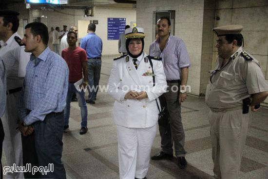 الشرطة النسائية تشارك فى تأمين المحطة -اليوم السابع -6 -2015