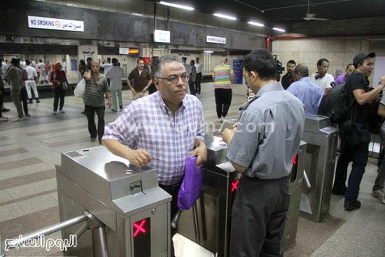 إقبال المواطنين على استعمال المحطة -اليوم السابع -6 -2015