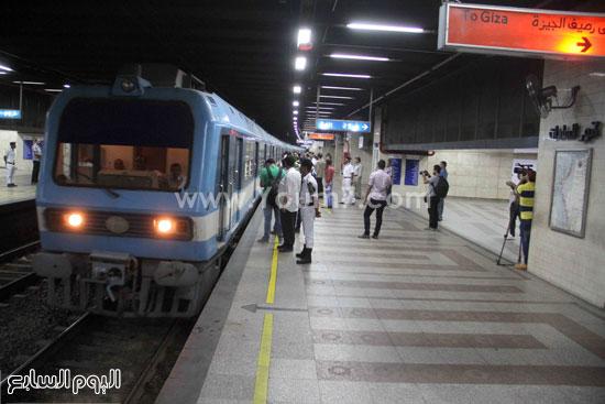القطار يصل المحطة  -اليوم السابع -6 -2015