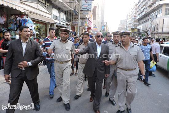 جانب من الإستنفار الأمنى -اليوم السابع -6 -2015