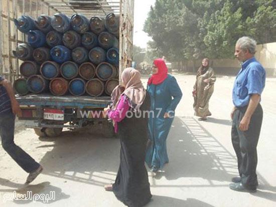 السيارة المحملة بالانابيب فى العامرية  -اليوم السابع -6 -2015