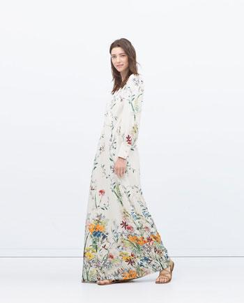 فستان بسيط التصميم مميز النقوش  -اليوم السابع -6 -2015