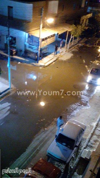 مياه الصرف الصحى تغرق شارع الدقهلية -اليوم السابع -6 -2015
