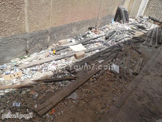 آثار الحريق الذى نشب بمقر المجموعة ولم يتم إزالة مخلفاته  -اليوم السابع -6 -2015