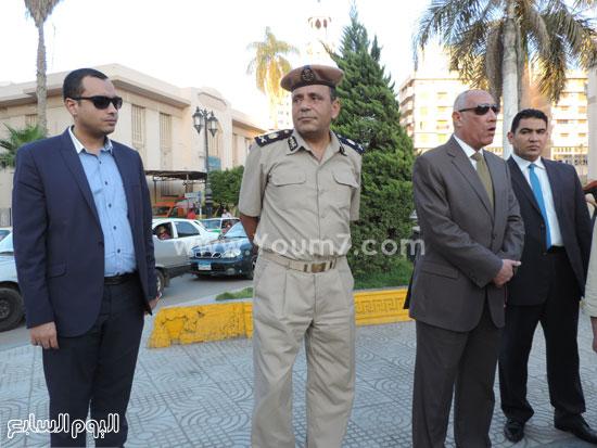 جانب من الاستنفار الأمنى -اليوم السابع -6 -2015