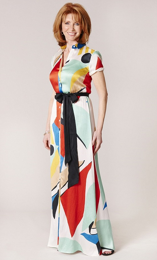 فستان طويل بألوان الصيف -اليوم السابع -6 -2015
