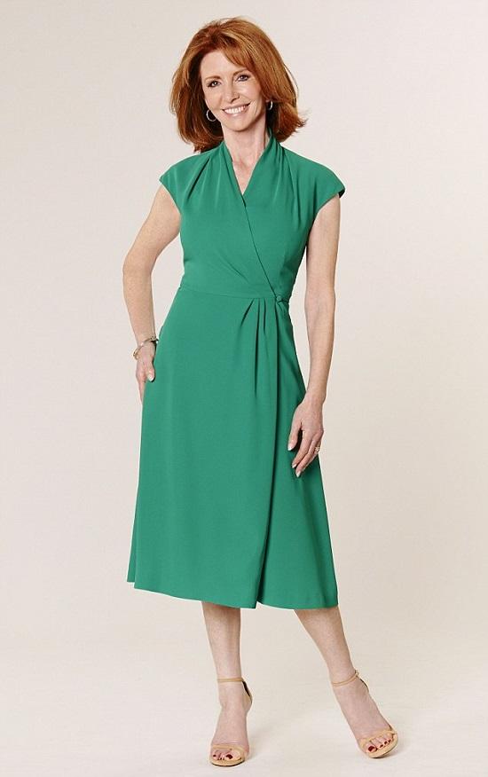 فستان باللون الأخضر -اليوم السابع -6 -2015