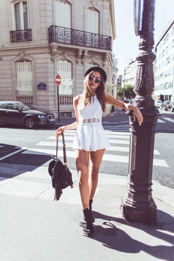 فستان سادة أبيض -اليوم السابع -6 -2015