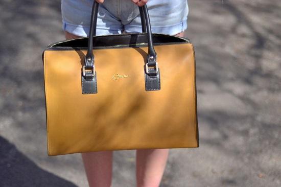 حقيبة مميزة من اللون الأصفر والأسود  -اليوم السابع -6 -2015