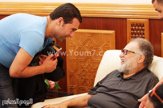 الفنان الكبير يحيى الفخرانى والزميل جمال عبد الناصر -اليوم السابع -6 -2015