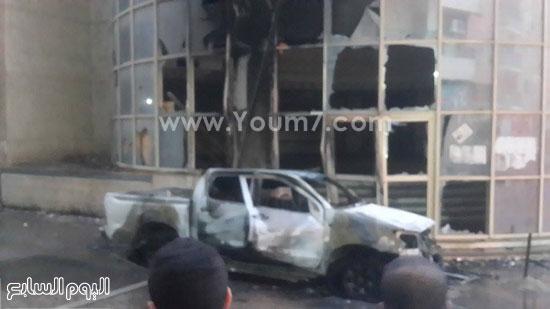 السيارة المحترقة منذ قليل -اليوم السابع -6 -2015