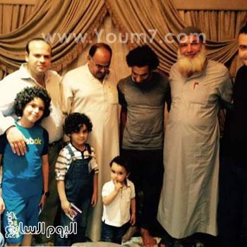 محمد صلاح فى منزله بنجريج -اليوم السابع -6 -2015