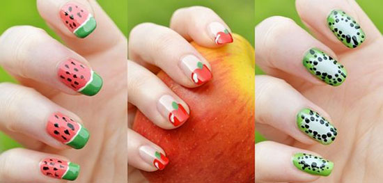 أظافر الفراولة بشكل مختلف -اليوم السابع -6 -2015