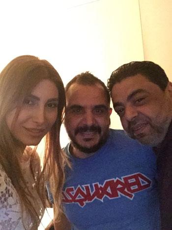 سيلفى محمود شميس ووليد سعد ويارا -اليوم السابع -6 -2015