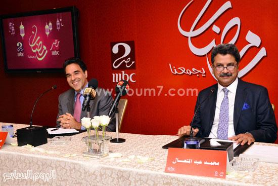 محمد عبد المتعال ومازن حايك خلال المؤتمر -اليوم السابع -6 -2015