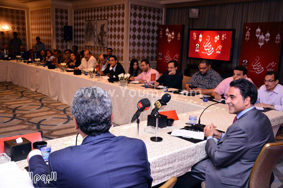 مازن حايك ومحمد عبد المتعال خلال المؤتمر -اليوم السابع -6 -2015