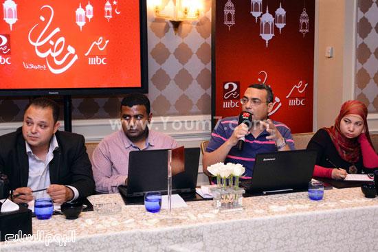 محمد عبد الرحمن خلال المؤتمر -اليوم السابع -6 -2015