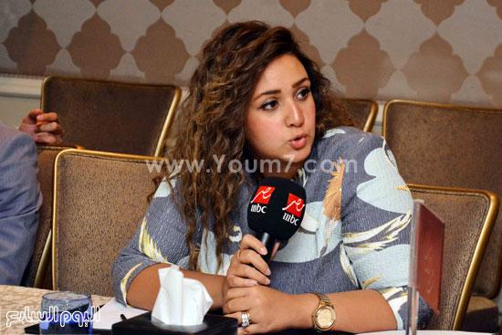 الزميل شيماء عبد المنعم خلال مشاركتها بالمؤتمر -اليوم السابع -6 -2015