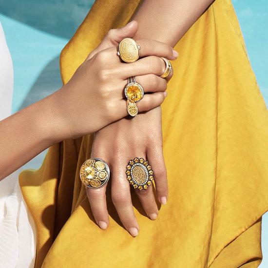 الأحجار الصفراء والمعدن الذهبى موضة صيف 2015 -اليوم السابع -6 -2015