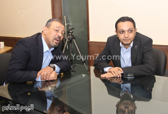 الإعلاميان عمرو الكحكى وأحمد فايق -اليوم السابع -6 -2015