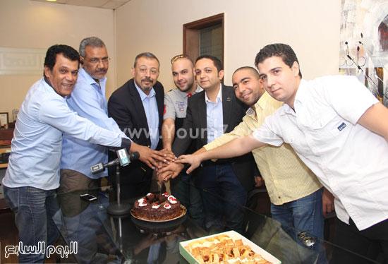 أسرة القناة تحتفل بـ مصر تستطيع -اليوم السابع -6 -2015